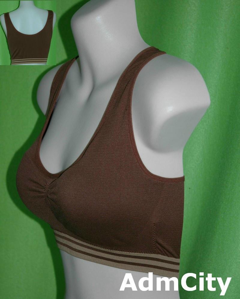 超彈性 spandex 條紋胸罩.