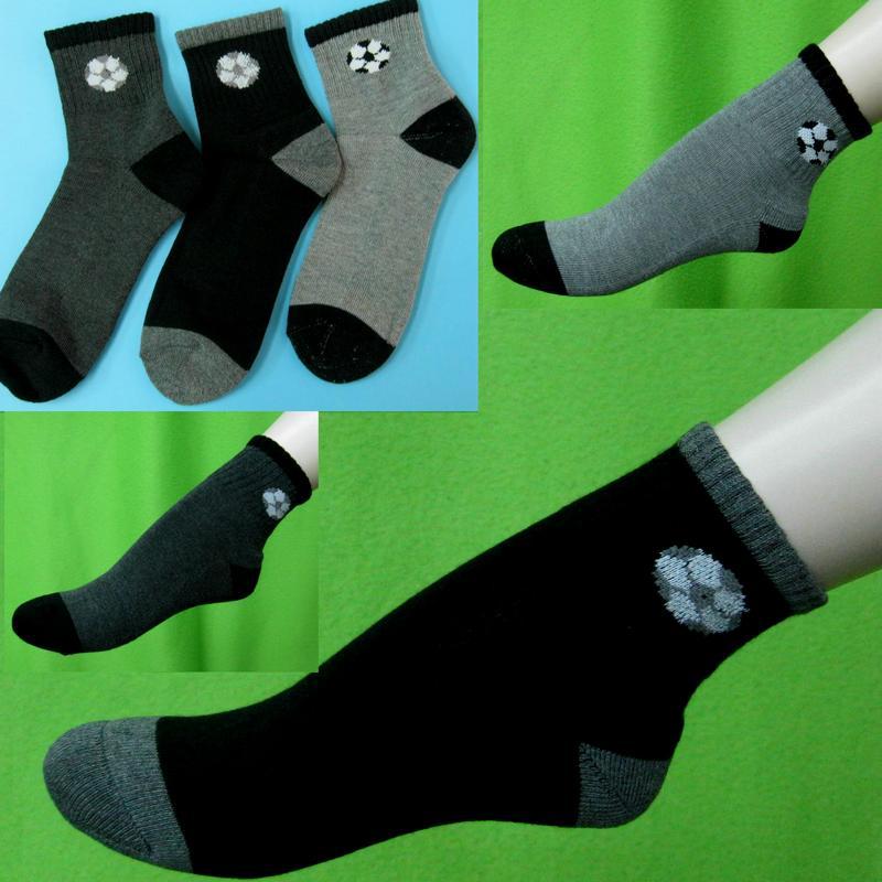 足球圖案彈性運動短襪氣墊襪厚底中性短襪男女通用 適合腳長20~26公分