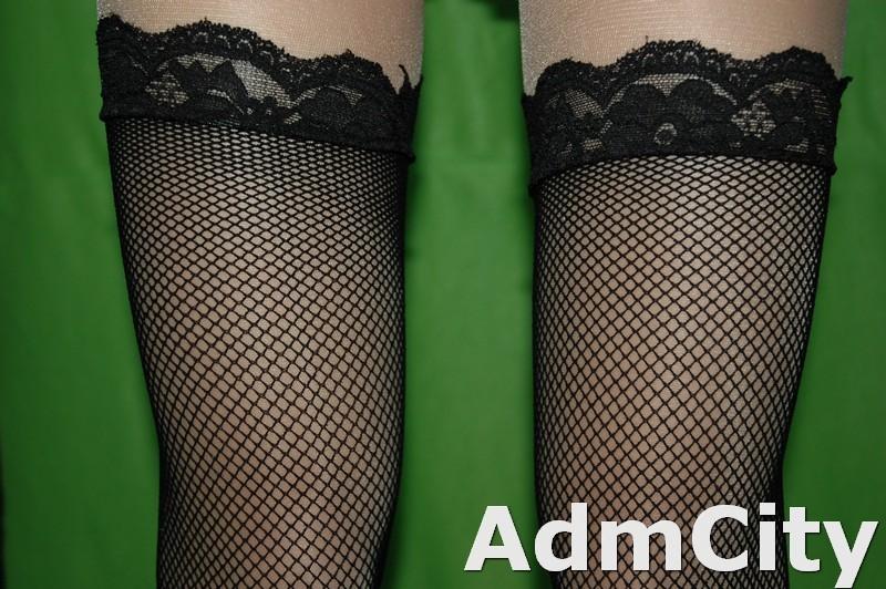 基本款  蕾絲大腿網襪
