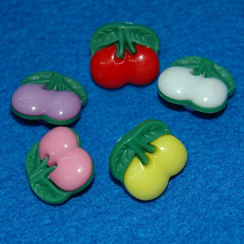 10顆,縫紉鈕扣手工藝20mm塑膠水果鈕釦