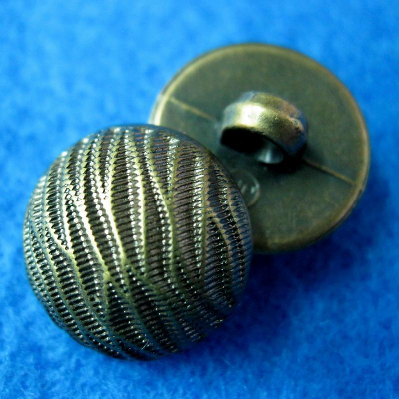 10個波浪條紋型縫紉扣