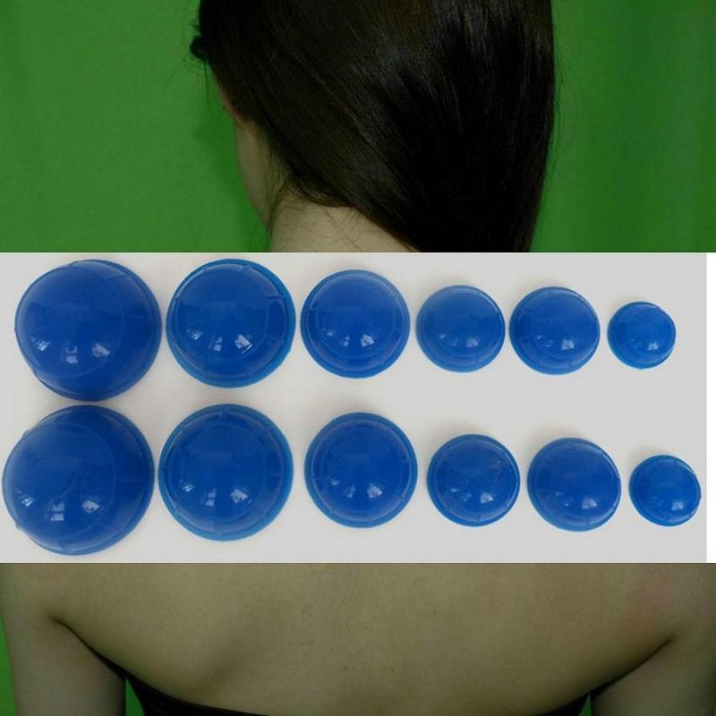 特價12個組合包 現貨人氣隨身超強矽膠拔罐杯按摩拔罐器DIY拔濕器, 可選色3色選